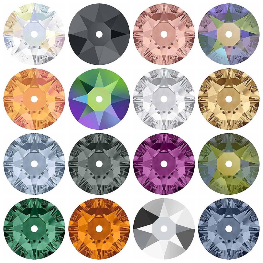3188 Swarovski® Sew On Crystals Lochrose Sequins Crystal Unfoiled