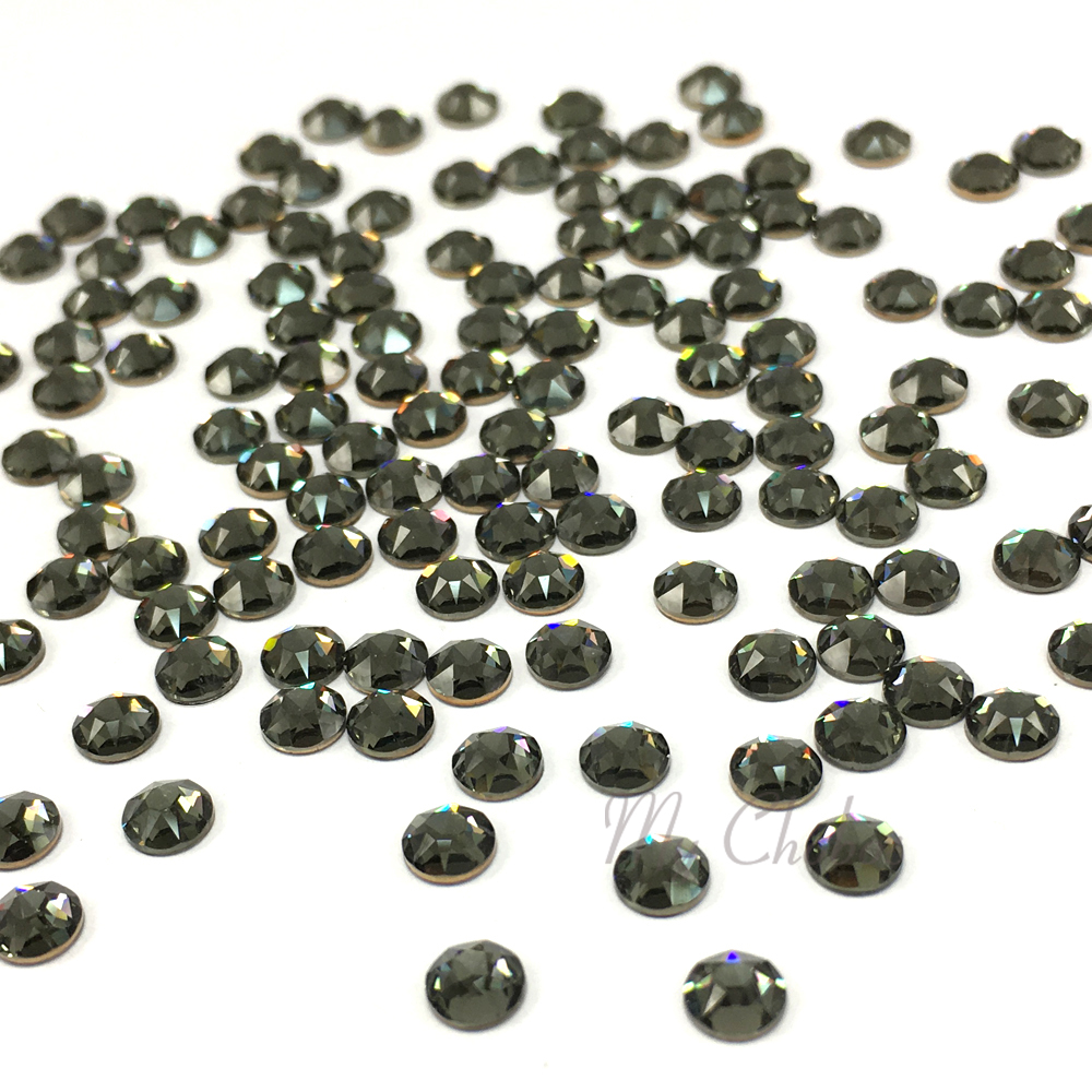215 Swarovski 2078 XIRIUS 20ss Flatbacks Hotfix Iron-on 5mm ss20 Black Diamond