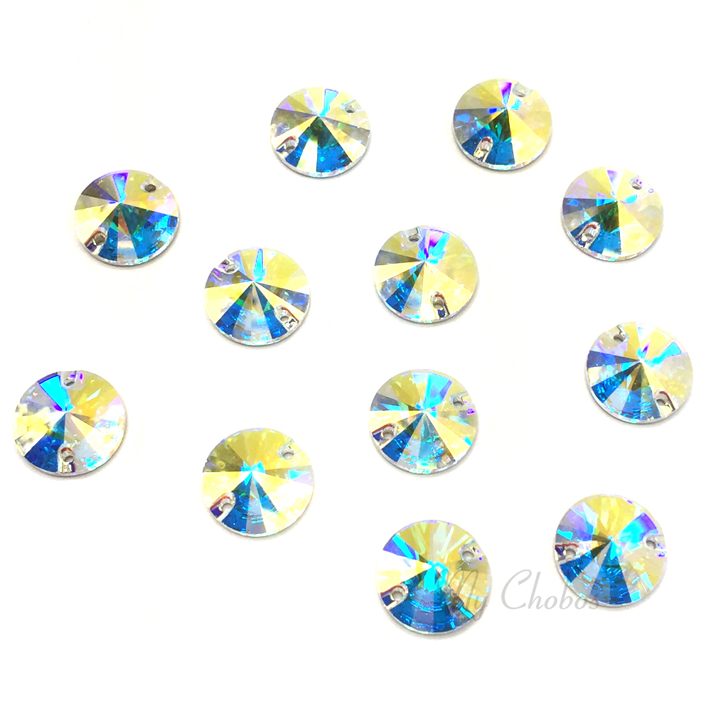 4 pcs Swarovski 3200 Rivoli Round Sew-on Stones Foiled 18mm CRYSTAL ... 1c5b6f5db5b1