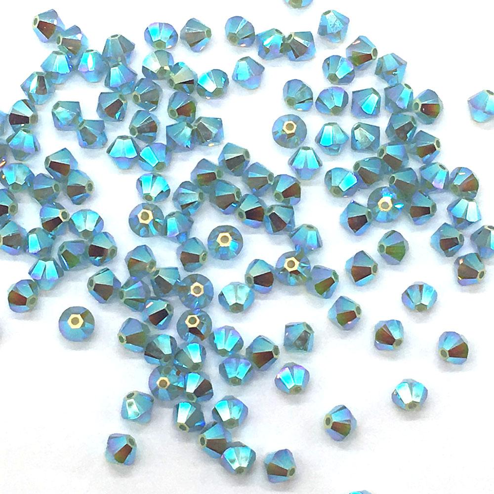 Swarovski 5328 Xilion Bicone Beads  4mm 50 beads White Opal AB