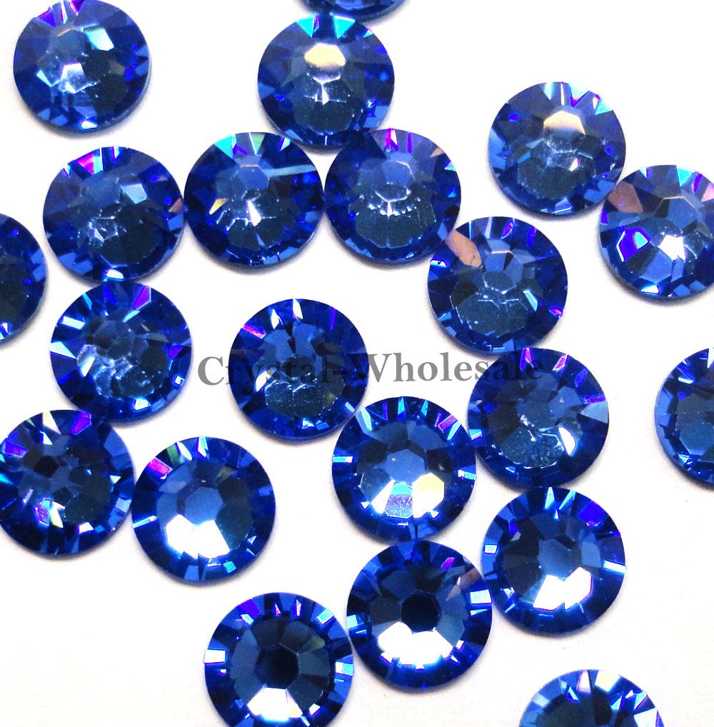144 Swarovski 2058 6ss crystal flatbacks No-Hotfix rhinestones 2mm nail art ss6