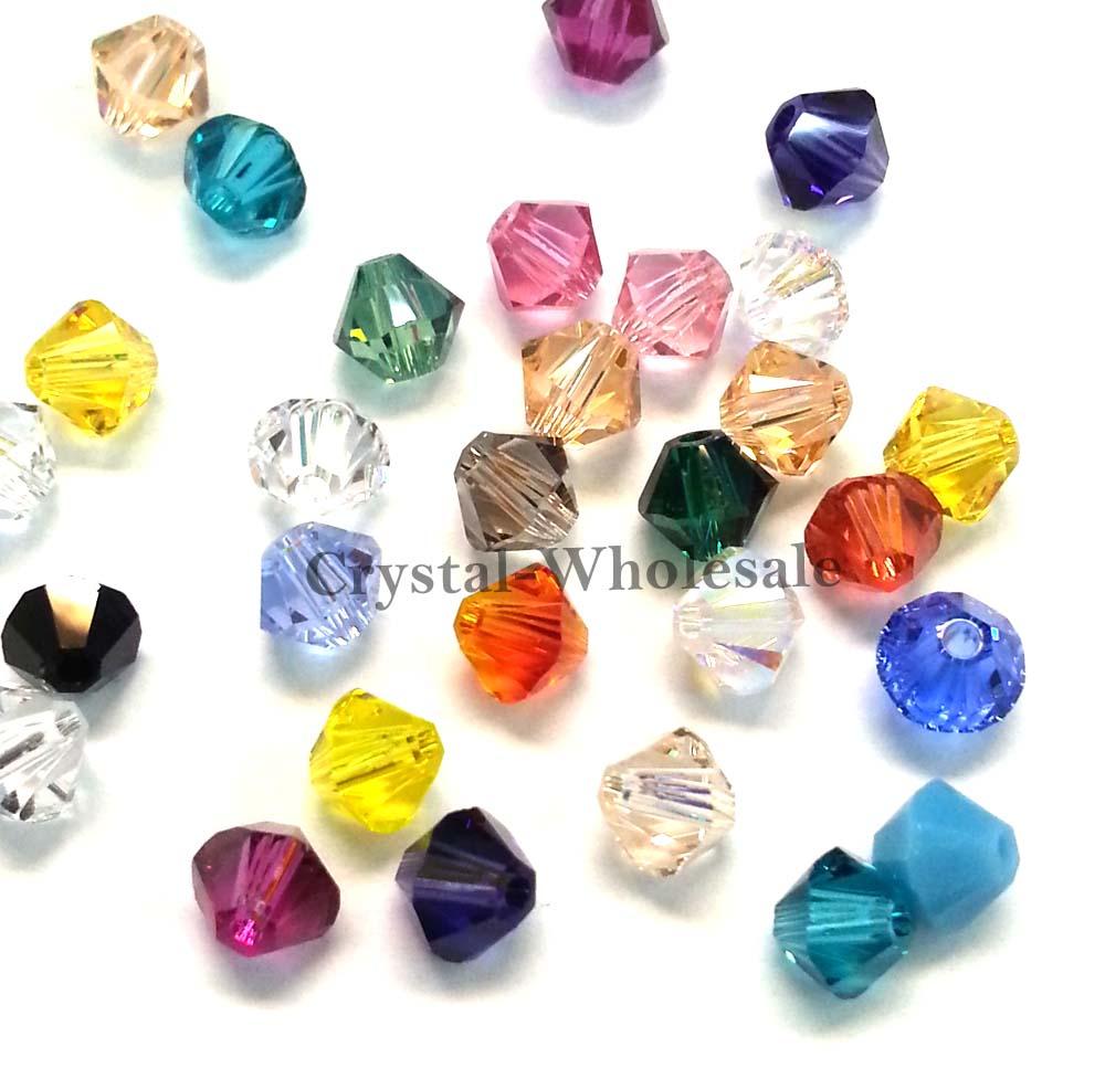 Crystal Bead Beads: 5mm Mix Colors Genuine Swarovski Crystal 5328 / 5301 Loose