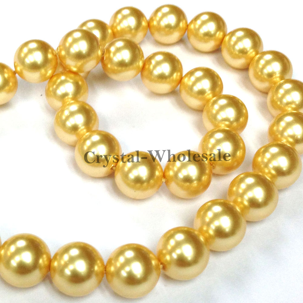 lyst chain gold ginette round tube metallic necklace ny pearls jewelry s rose white women on