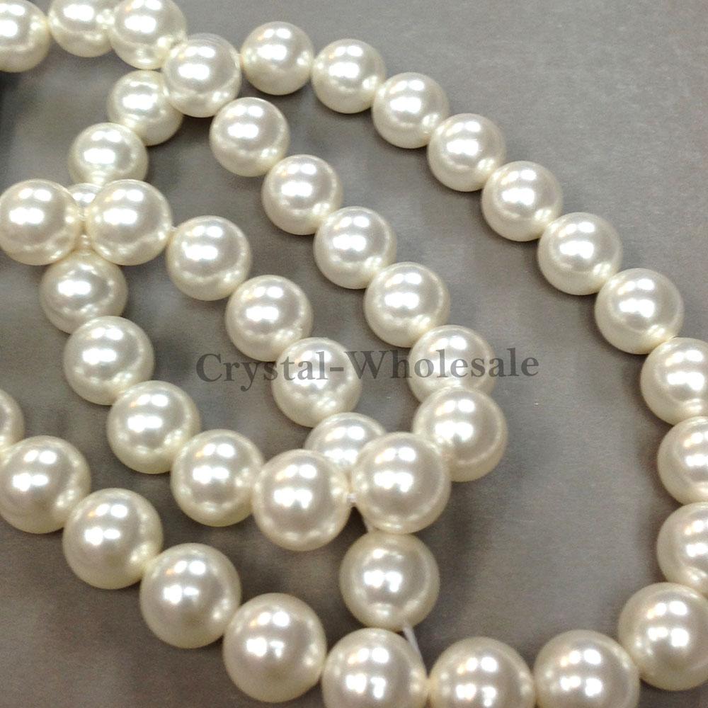 50 Swarovski 5810 Crystal Pearls Round Beads 8mm - 30 colors